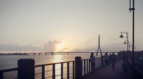 Video reveals planned construction process of ZHA-designed bridge in Taiwan