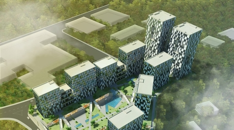 Turkish architecture practice S+ Architecture designs residential complex with green spine in Istanbul