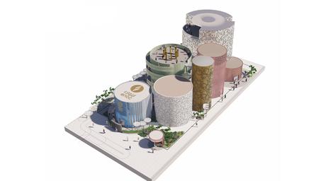 ENOC unveils cluster of futuristic oil storage containers for Expo 2020 Dubai pavilion