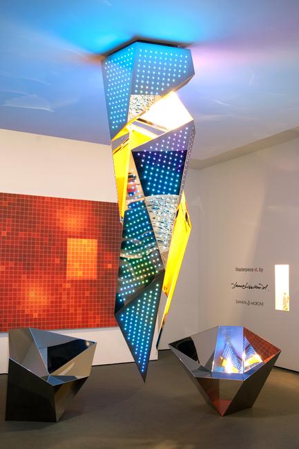 Architect Daniel Libeskind, Zumtobel, 'eL Masterpiece' chandelier