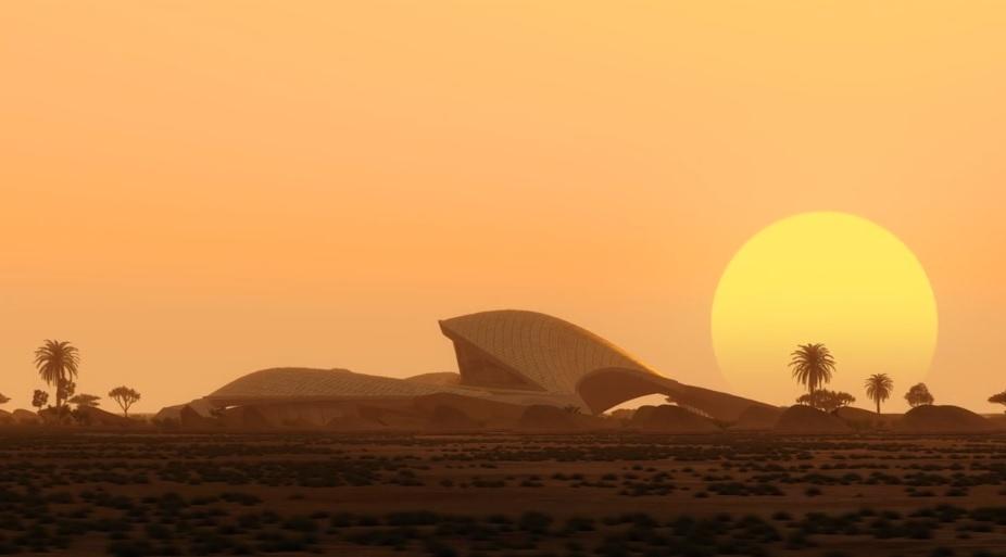 Architecture, Bee'ah HQ, Construction, Renewable energy, Sharjah, UAE, Zaha Hadid, Zaha Hadid Architects