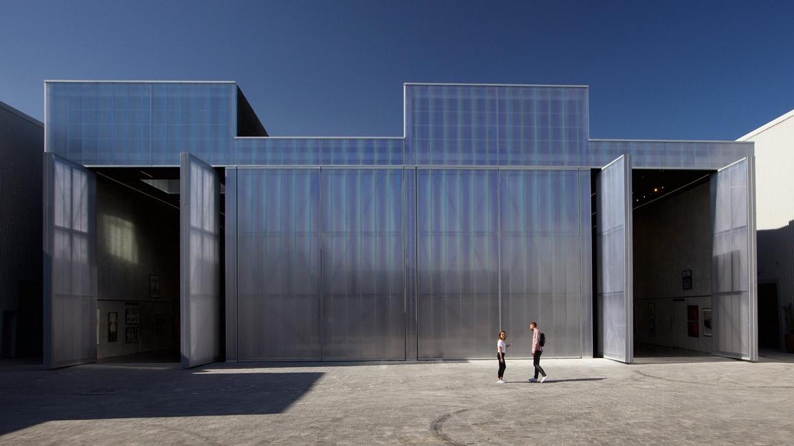 Alserkal Avenue, Architecture, Concrete, Events space, Moving walls, OMA, OMA Alserkal Avenue, OMA Concrete, OMA Dubai, OMA first UAE project, Poly carbonate