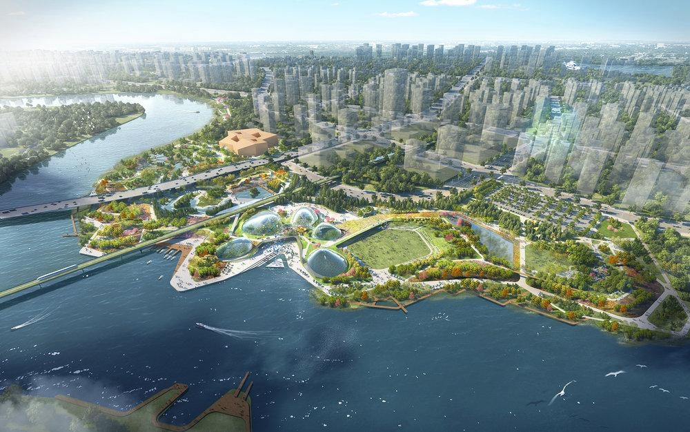 Architecture, Atelier One, Atelier Ten, China-Singapore, Friendship Park, Grant Associates, Gu Dao Canal, Political architecture, Tianjin Eco City, WilkinsonEyre Architects