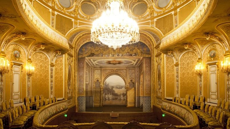 160 year old theatre renovation France, Abu Dhabi, Architecture, Château de Fontainebleau's Imperial Theatre, Design, France, Hector Lefuel, Imperial family, Renovation, Sheikh Khalifa bin Zayed Al Nahyan theatre, Theatre, Theatre renovation