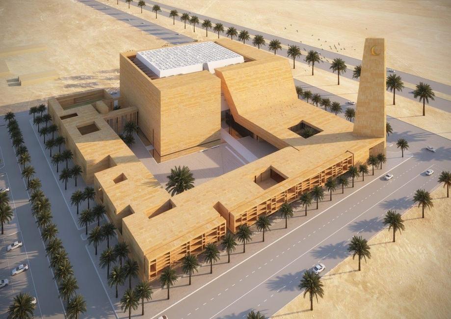 Architecture, Islamic architecture, Italian architects, Mosque, Najd architecture, Saudi Arabia, Saudi mosque, Schiattarella Associati