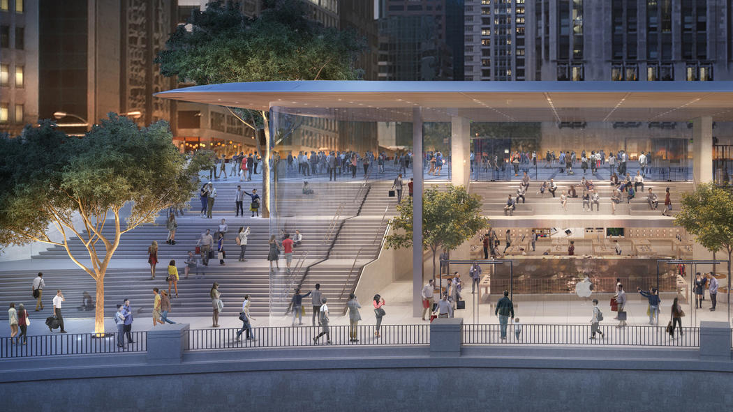 Apple, Chicago, Foster + Partners