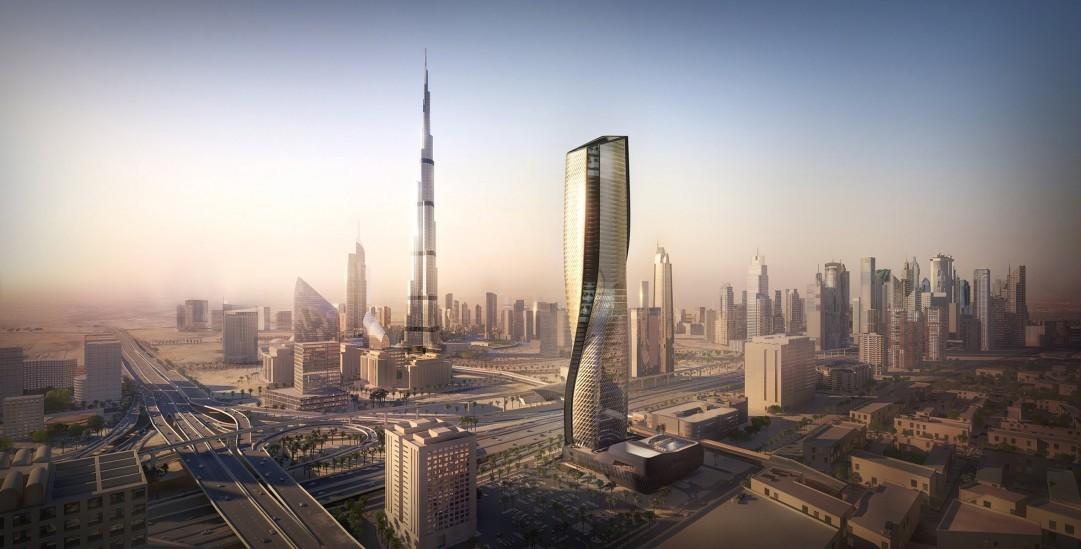 Architecture, Dubai, Skyscraper, United Arab Emirates, UNStudio, Wasl Tower