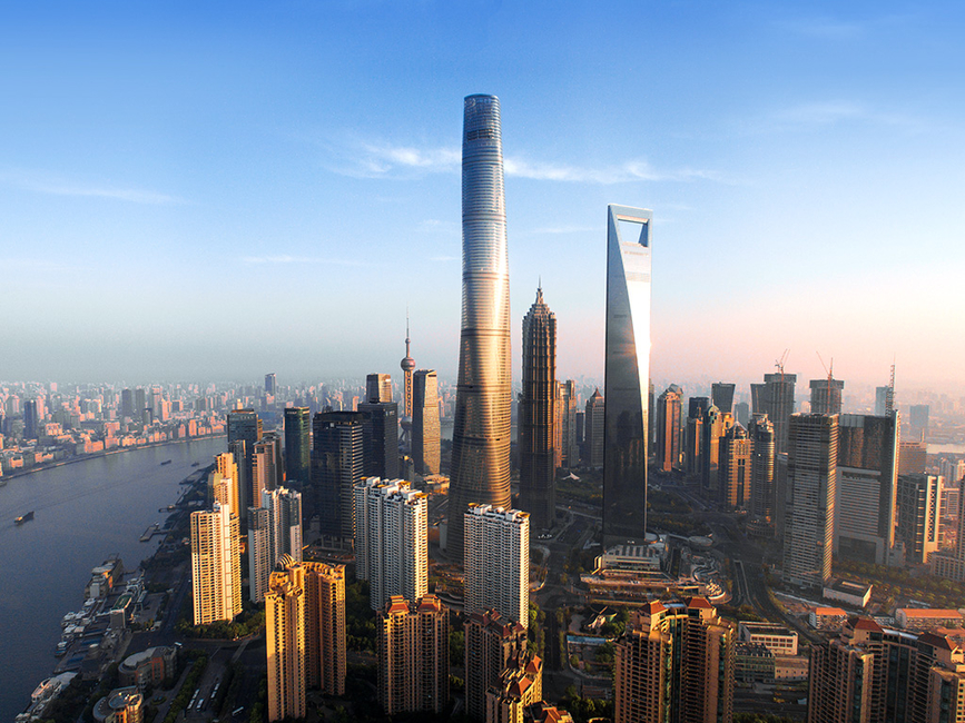 Architecture, China, Gensler, Second tallest tower in the world, Shanghai, Shanghai Tower, Skyscraper, Supertall tower