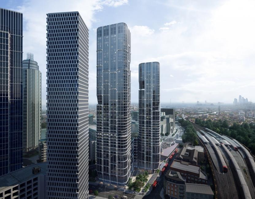 Architecture, London buildings, New towers 2018, Vauxhall Cross Island, Zaha Hadid Architects, ZHA