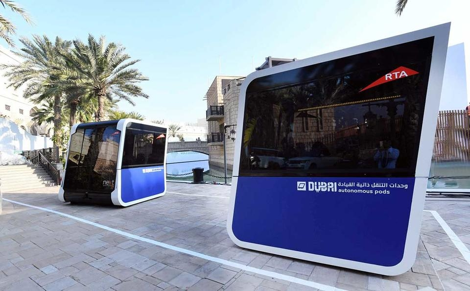 Autonomous vehicles, Driverless pods, Dubai's Roads and Transport Authority, RTA