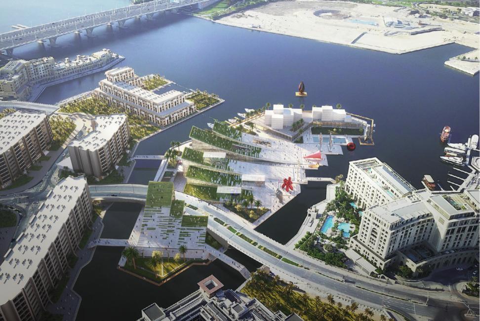 Architecture from the UAE, Concept designs, Cultural district, Dubai Creek, Perkins+Will