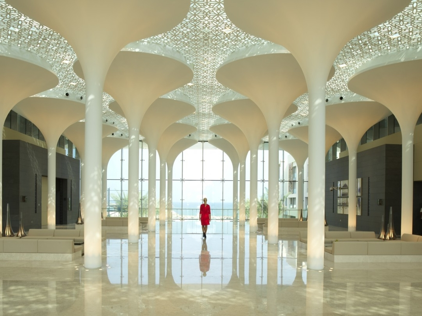 Architecture, Hotel design, Kempinski Hotel Muscat, Middle Eastern architecture, Muscat, Oman, Woods Bagot
