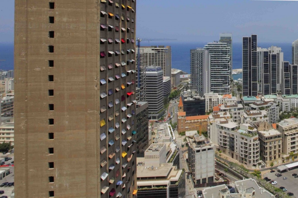 Architecture, Art Installation, Beirut, Installation, Jad El Khoury, Lebanese Civil War, Skyscraper