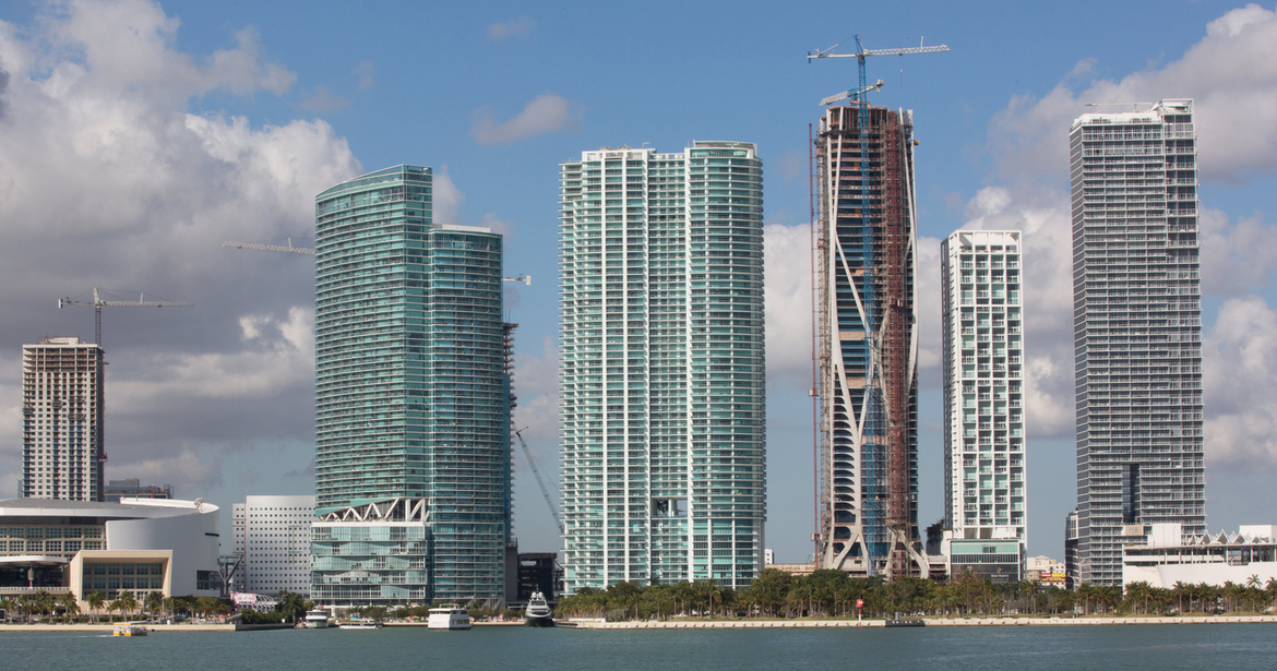 Zaha Hadid Architects, Residential design, Residential towers, Miami, Florida, United States architecture, Drone footage
