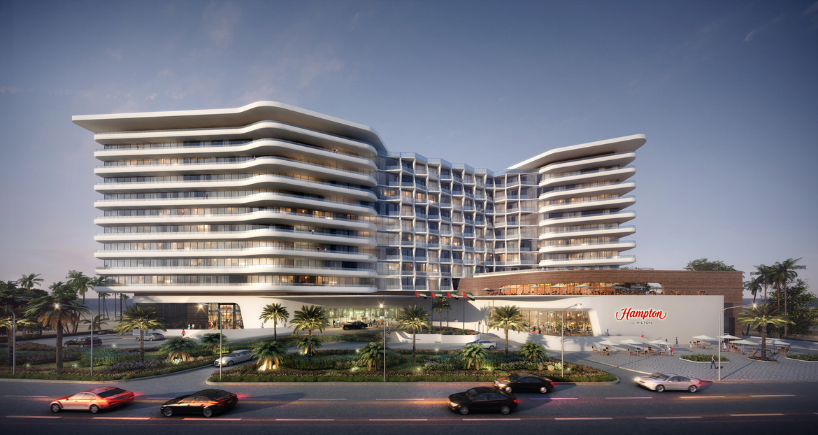 Resort design, Resort architecture, Ras Al Khaimah, United Arab Emirates, Hampton by Hilton Hotel, JT+Partners
