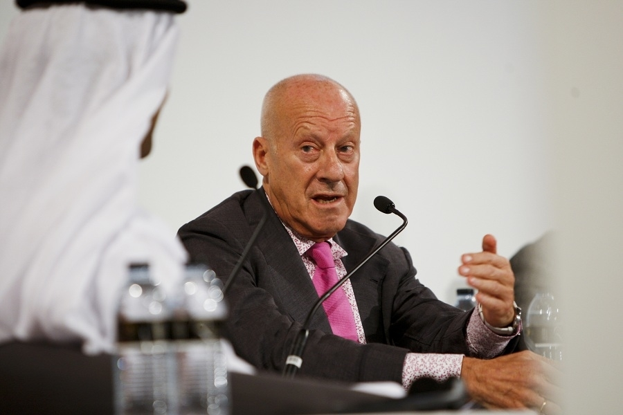 Sir Norman Foster in Abu Dhabi. Photographyby Rajesh Raghav/ITPImages