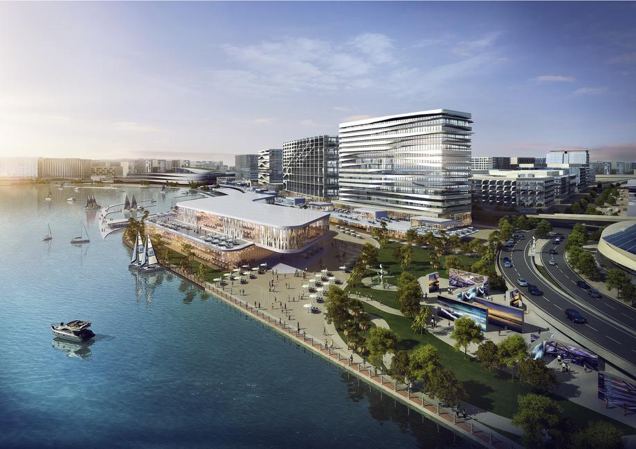 Render of Dubai Design District by Woods Bagot