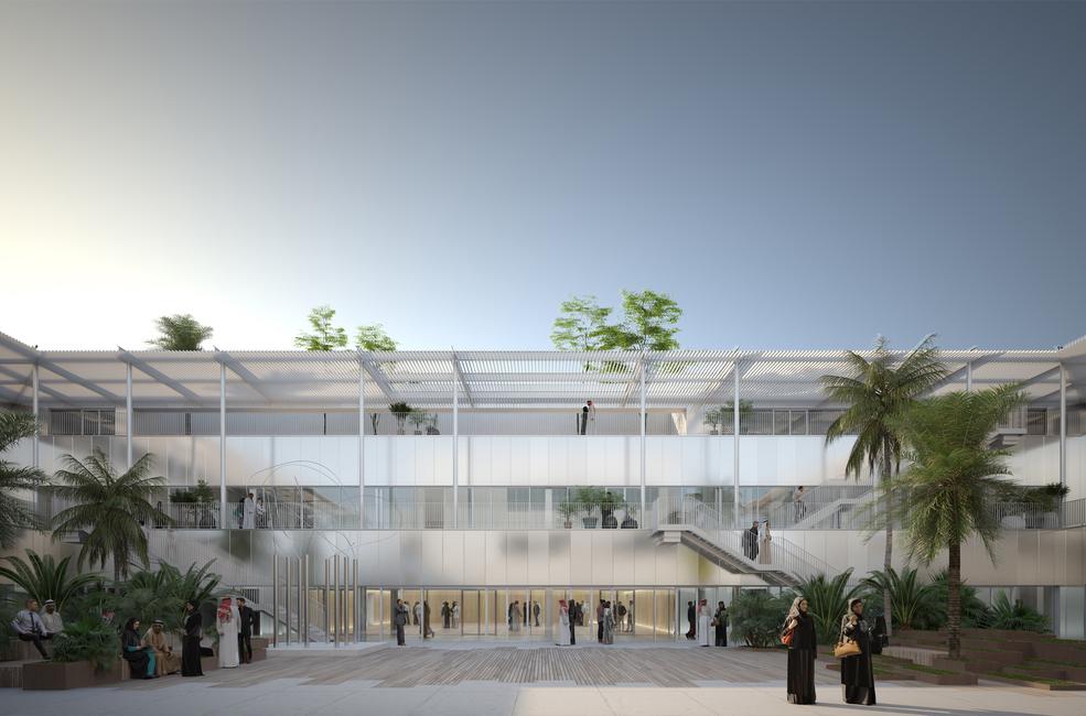 Hayy: Creative Hub's central coutyard
