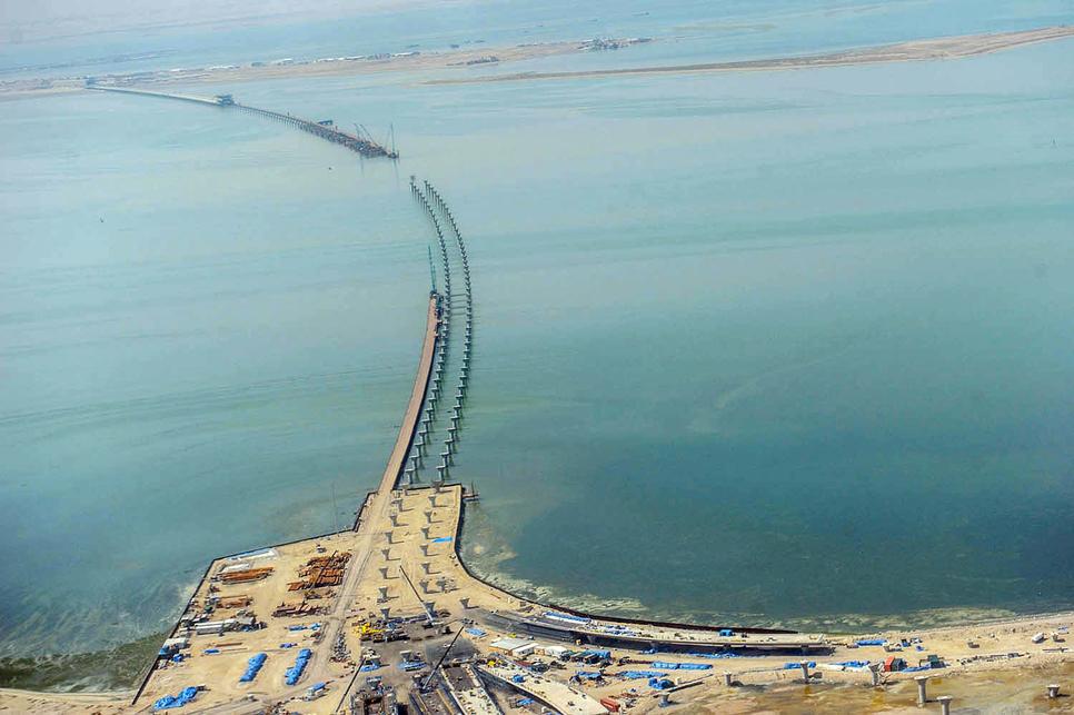 Kuwait, Transportation, Kuwait Causeway, Sheikh Jaber Al Ahmed Causeway, Kuwait construction, GCC development