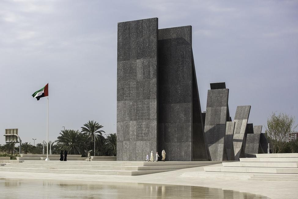 Wahat Al Karama in Abu Dhabi by Idris Khan. Image by Jonathan Gainer Surface Photography