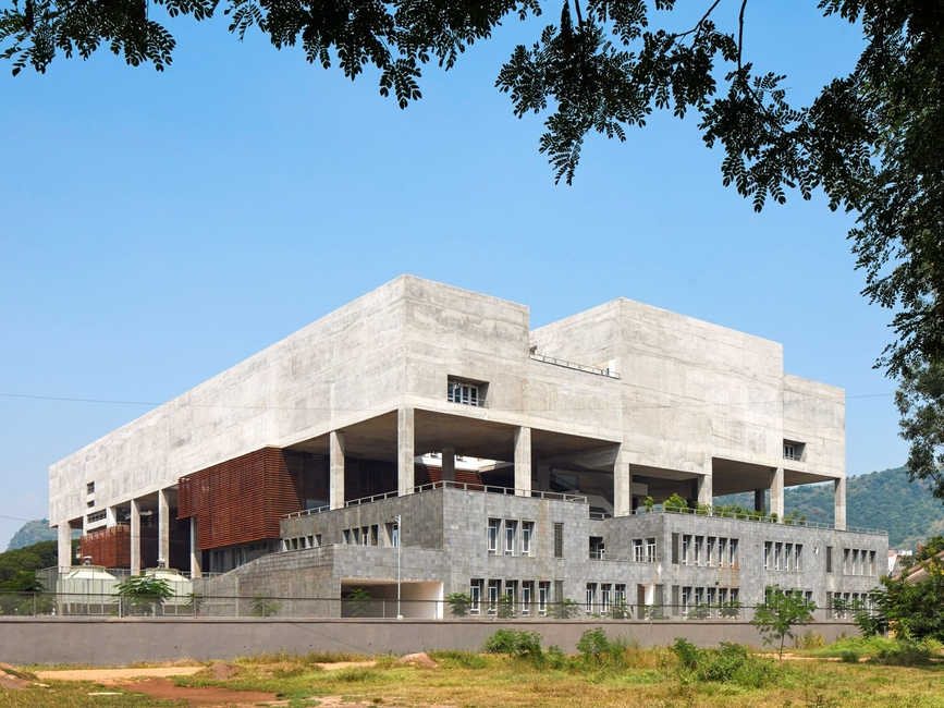 Brutalist architecture, India, Architecture school, Education design, Mobile Offices, India architecture