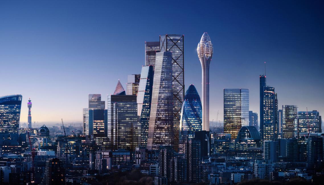 Foster + Partners, London, UK, London buildings, The Tulip, Tulip building