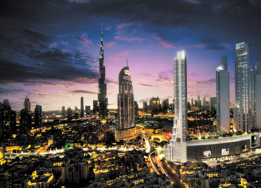 Dewan Architects + Engineers, Address Residence Fountain Views, Fountain Views, Dubai projects, UAE projects, Mixed-use projects, Residential, Retail
