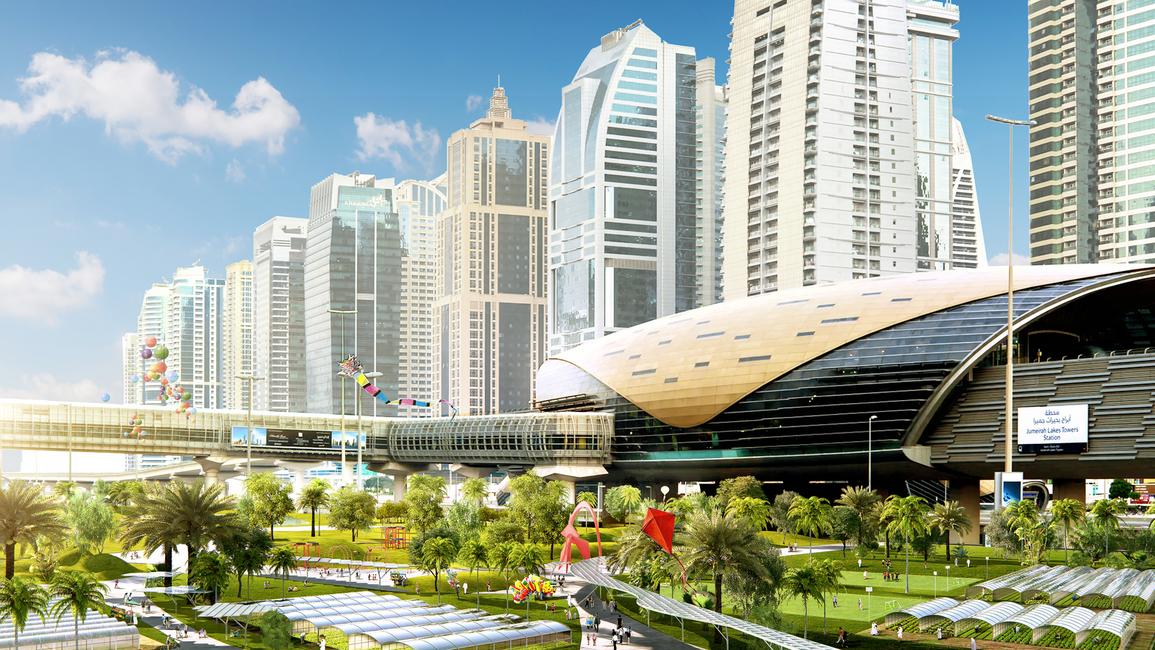 Urban realm, Public spaces, Public space projects, Machou Architects, Dubai, UAE, Dubai projects, Park projects, Sheikh Zayed Road