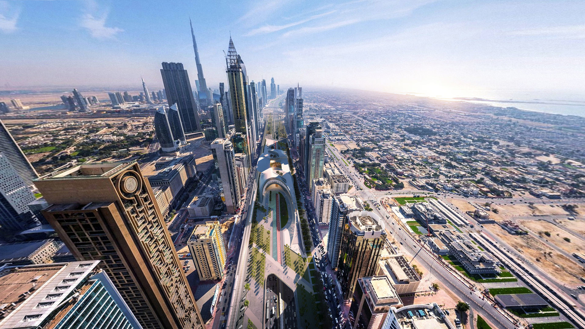 Urban regeneration, Dubai, UAE, Sheikh Zayed Road, Urban realm, Dubai projects, Concept Proposals