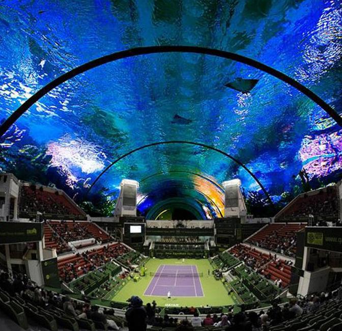 Dubai projects, Dubai, UAE, Underwater projects, Underwater tennis court