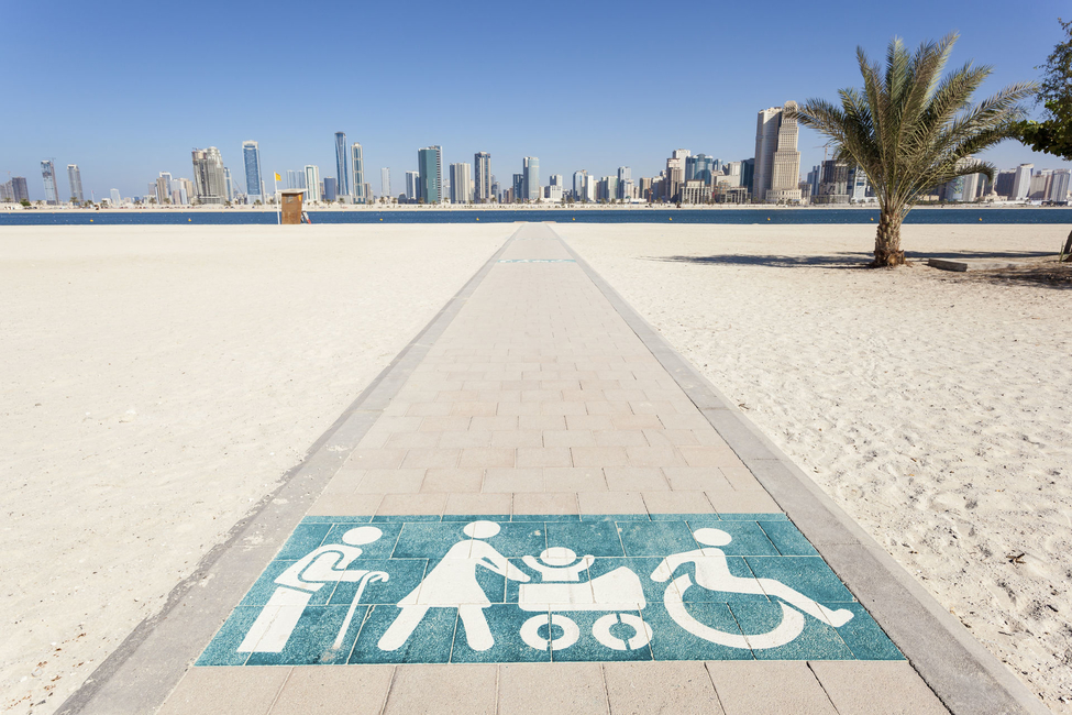 Accessibility measures are being applied to the UAE's public spaces. Image courtesy of ITP Media Group