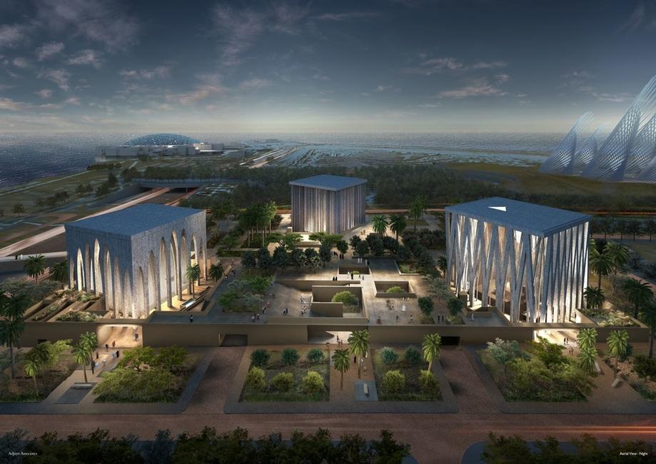 David Adjaye Associates, Abrahamic Family House, Abu Dhabi, Saadiyat Island
